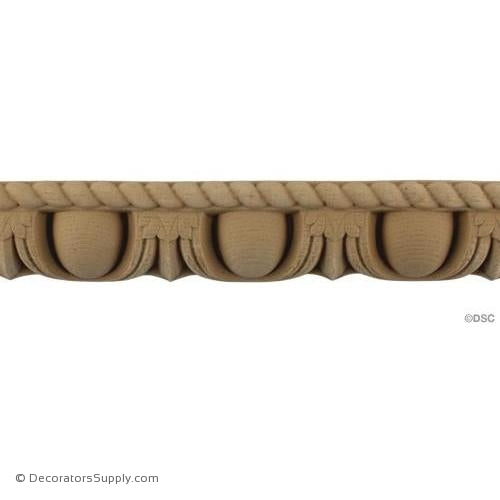 Egg and Dart-Roman 1 5/8H - 1 1/8Relief-woodwork-furniture moulding-Decorators Supply