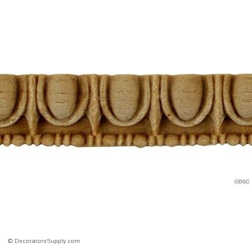 Egg and Dart-Greek 3/8H - 5/16Relief-woodwork-furniture moulding-Decorators Supply
