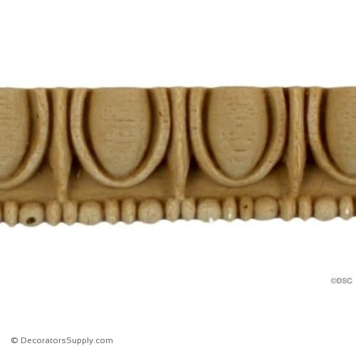 Egg and Dart-Greek 3/4H - 5/16Relief-woodwork-furniture moulding-Decorators Supply