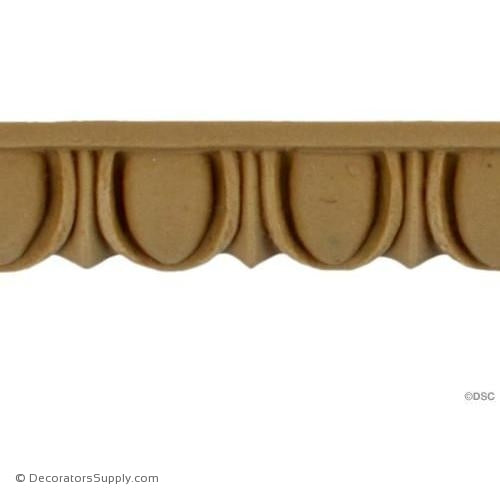 Egg and Dart-Ren. 3/4H - 3/8Relief-woodwork-furniture moulding-Decorators Supply