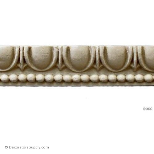Egg and Dart-Roman 3/4H - 3/8Relief-woodwork-furniture moulding-Decorators Supply