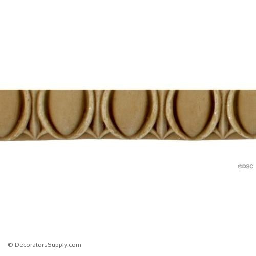 Egg and Dart-Roman 11/16H - 5/16Relief-woodwork-furniture moulding-Decorators Supply