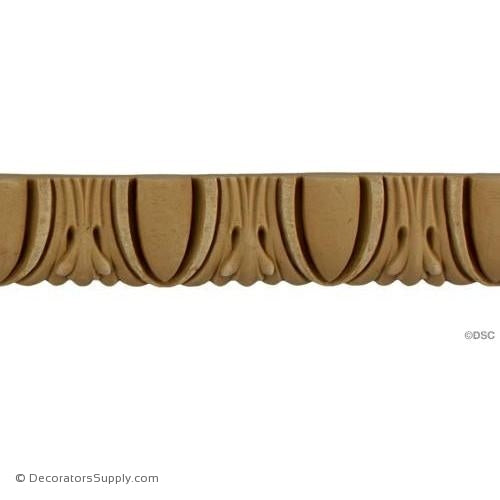 Egg and Dart-Ren. 1 1/8H - 5/16Relief-woodwork-furniture moulding-Decorators Supply