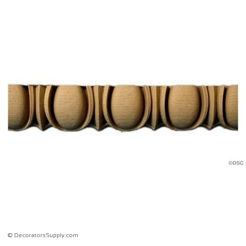 Egg and Dart-Classic 1 3/8H - 1Relief-woodwork-furniture moulding-Decorators Supply