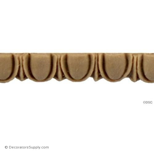 Egg and Dart-Classic 5/16H - 5/32Relief-woodwork-furniture moulding-Decorators Supply