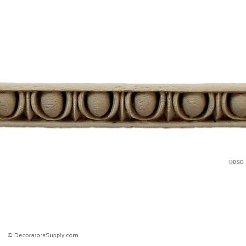 Egg and Dart-Classic 7/16H - 3/8Relief-woodwork-furniture moulding-Decorators Supply