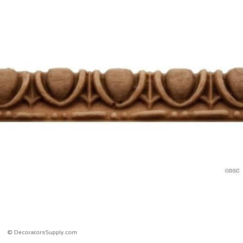 Egg and Dart-Roman 1/4H - 1/8Relief-woodwork-furniture moulding-Decorators Supply