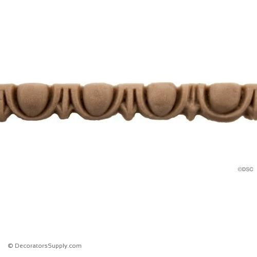 Egg and Dart-Roman 3/16H - 5/32Relief-woodwork-furniture moulding-Decorators Supply