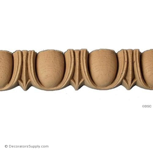 Egg and Dart-Roman 1 3/8H - 1Relief-woodwork-furniture moulding-Decorators Supply