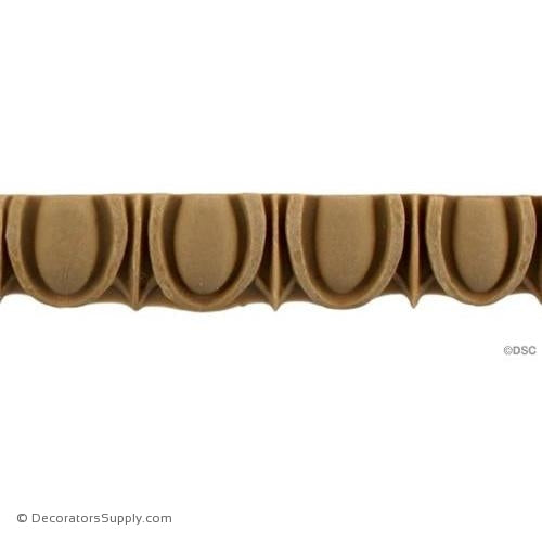 Egg and Dart-Roman 5/8H - 5/16Relief-woodwork-furniture moulding-Decorators Supply