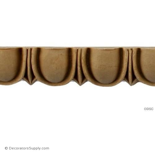 Egg and Dart-Roman 1H - 1/2Relief-woodwork-furniture moulding-Decorators Supply