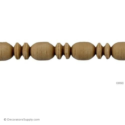 Bead and Barrel-Roman 13/32H - 3/8Relief-furniture-woodwork-molding-Decorators Supply