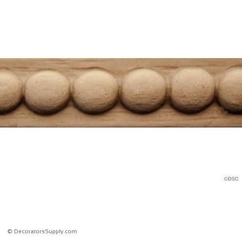 Decorative Wood Trim For Furniture Includes Half Round Pearl Beading