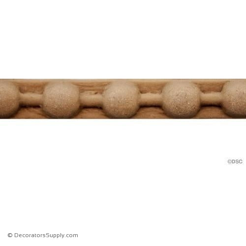 Bead-Ren. Ft. 1/4H - 1/8Relief-woodwork-furniture-moulding-Decorators Supply