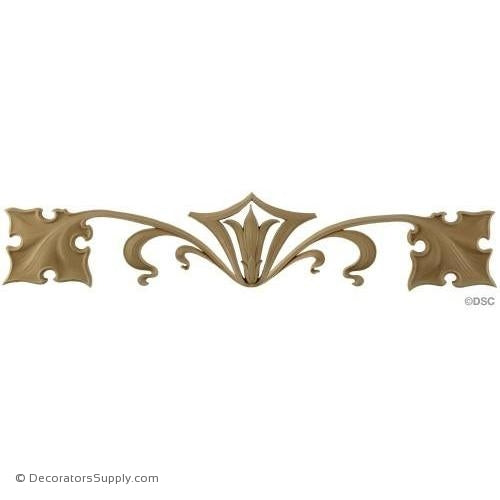 Ivy Vines - Art Nouveau 7H X 32 3/8W - 3/8Relief-appliques-for-woodwork-furniture-Decorators Supply