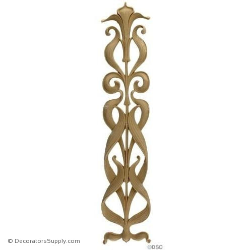 Flower Design-Art Nouveau 18H X 4W - 3/8Relief-appliques-for-woodwork-furniture-Decorators Supply
