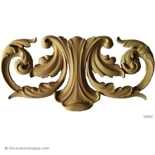 Acanthus Design - Ren. 6 3/4H X 14W - 3/8Relief-ornaments-furniture-woodwork-Decorators Supply