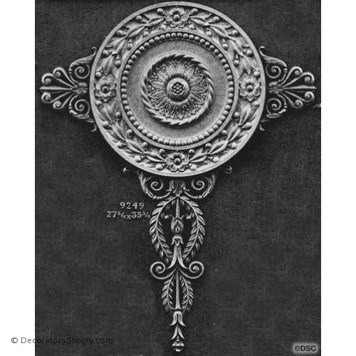 Medallion - Empire 35 3/4H X 27 3/4W - 5/8Relief-vertical-design-woodwork-furniture-Decorators Supply