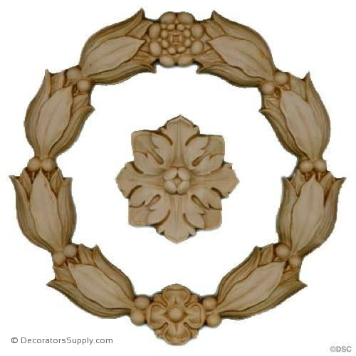 Bell Flower-Empire 7H X 7W - 3/8Relief-ornaments-for-woodwork-furniture-Decorators Supply