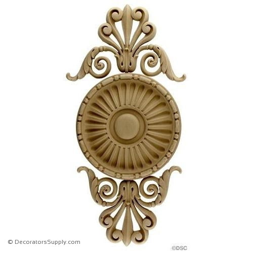 Vertical Design-Empire 18H X 8W - 1/2Relief-ornaments-for-woodwork-furniture-Decorators Supply