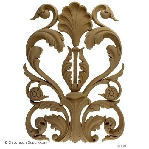 Scroll Design - Ren. 18 1/2H X 14W - 5/8Relief-ornaments-furniture-woodwork-Decorators Supply