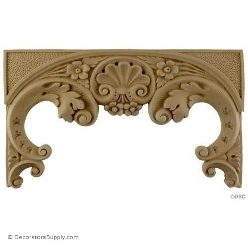 Arch - Spanish 7 3/4H X 12 3/4W - 7/8Relief-ornaments-furniture-woodwork-Decorators Supply