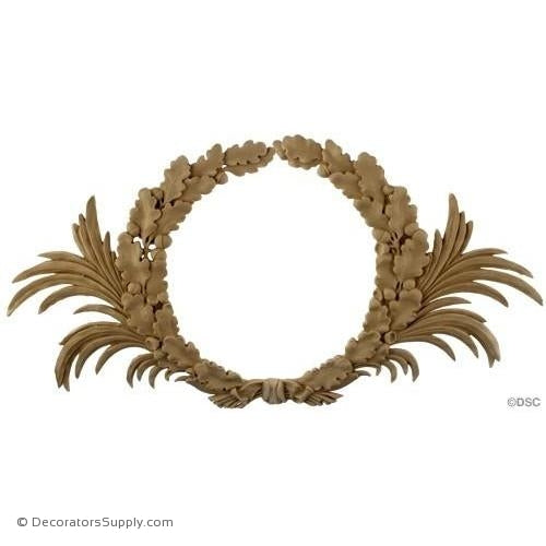 Wreath-Louis XVI 13 3/4H X 27 3/4W - 1/2Relief-ornaments-for-woodwork-furniture-Decorators Supply