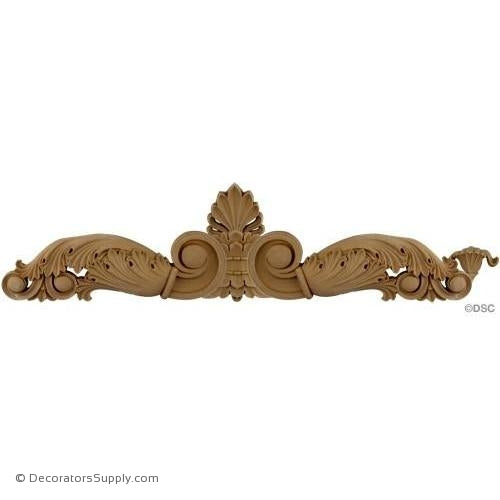 Acroteria - Greek 7 1/2H X 28 1/4W - 5/8Relief-ornaments-for-woodwork-furniture-Decorators Supply