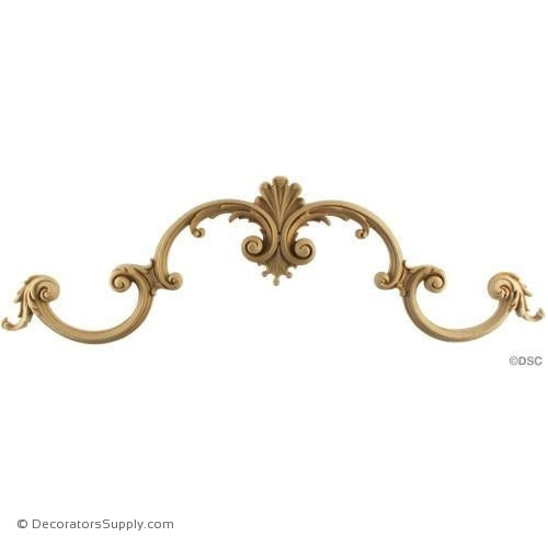 Scroll-Louis XV 5 1/2H X 18 1/2W - 3/4Relief-ornaments-for-woodwork-furniture-Decorators Supply