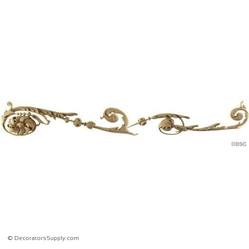 Scroll - Louis XVI 3 3/8H X 23 3/8W - 7/16Relief-ornaments-for-furniture-wooodwork-Decorators Supply