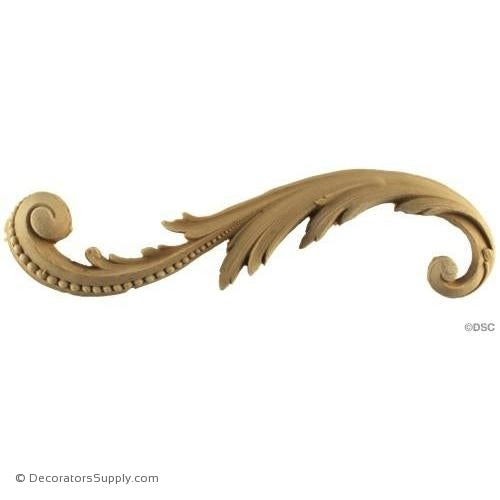 Scroll-Louis XV 2 1/2H X 8 1/2W - 1/2Relief-ornaments-for-furniture-wooodwork-Decorators Supply