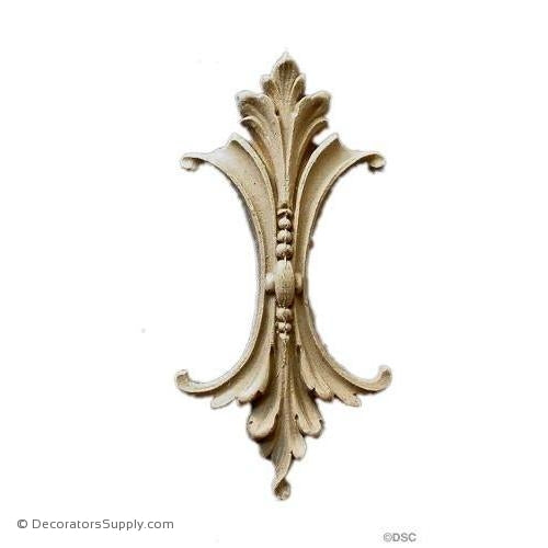 Acanthus Leaf - Louis XVI 5H X 2 3/8W - 9/16Relief-ornaments-furniture-woodwork-Decorators Supply