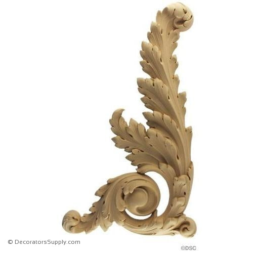 Leaf Scroll - Louis XIV 16H X 9W - 1Relief-ornaments-for-furniture-wooodwork-Decorators Supply