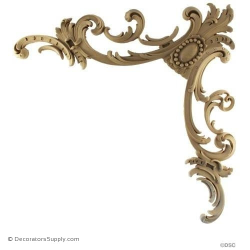 Cartouche - Rococo - Louis XV 16 1/2H X 16 1/2W - 1/2Rlf-appliques-for-woodwork-furniture-Decorators Supply