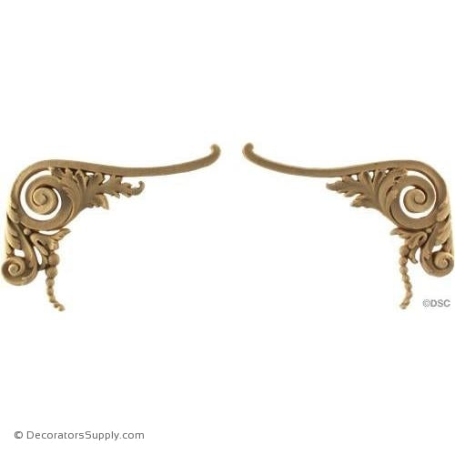 Scrolls - Louis XIV 4 1/2H X 6W - 1/2Relief-ornaments-for-furniture-wooodwork-Decorators Supply