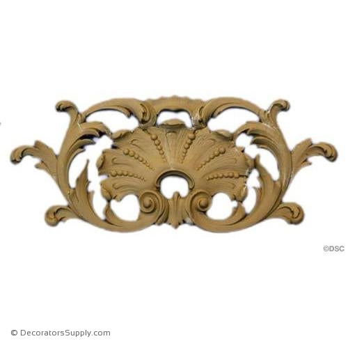 Shell-Louis XIV - Rococo - 3 7/8H X 9 3/8W - 7/16Relief-ornaments-for-woodwork-furniture-Decorators Supply
