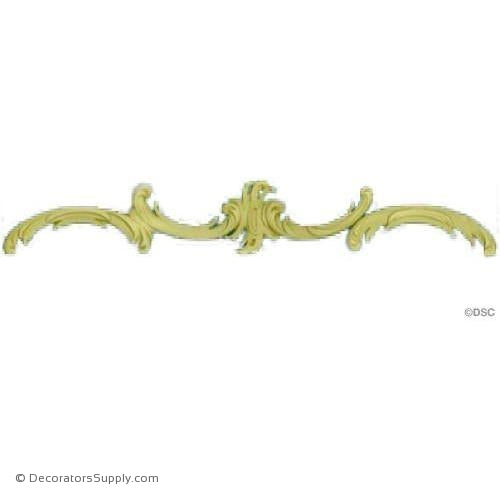 Scroll - Rococo - Louis XV 2 1/2H X 16W - 1/4Relief-ornaments-for-furniture-wooodwork-Decorators Supply