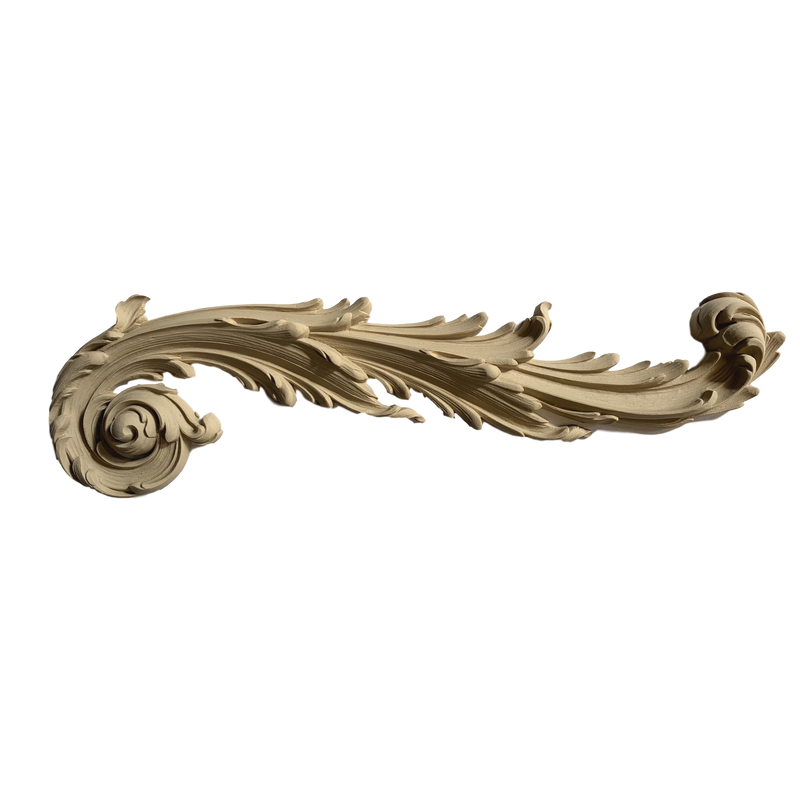 Scroll - Rococo - Louis XIV 5  1/4H X 18  1/4W - 1 1/8Relief