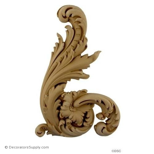 Scroll - Rococo - Louis XV 12H X 8W - 7/8Relief-ornaments-for-furniture-wooodwork-Decorators Supply