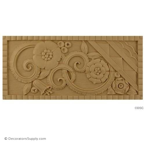 Art Deco- 5 1/2H X 12W - 1/4Relief-appliques-for-woodwork-furniture-Decorators Supply