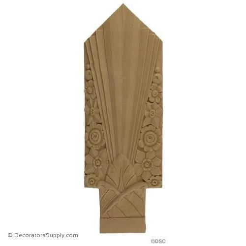 Art Deco- 17 5/8H X 6W - 5/16Relief-appliques-for-woodwork-furniture-Decorators Supply