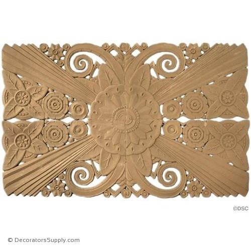 Art Deco Floral-35H X 22 1/2W - 1/4Relief-appliques-for-woodwork-furniture-Decorators Supply