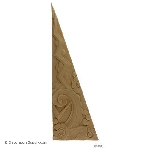 Art Deco Triangle - Left Side - 18H X 6W x 5/16 Relief-appliques-for-woodwork-furniture-Decorators Supply