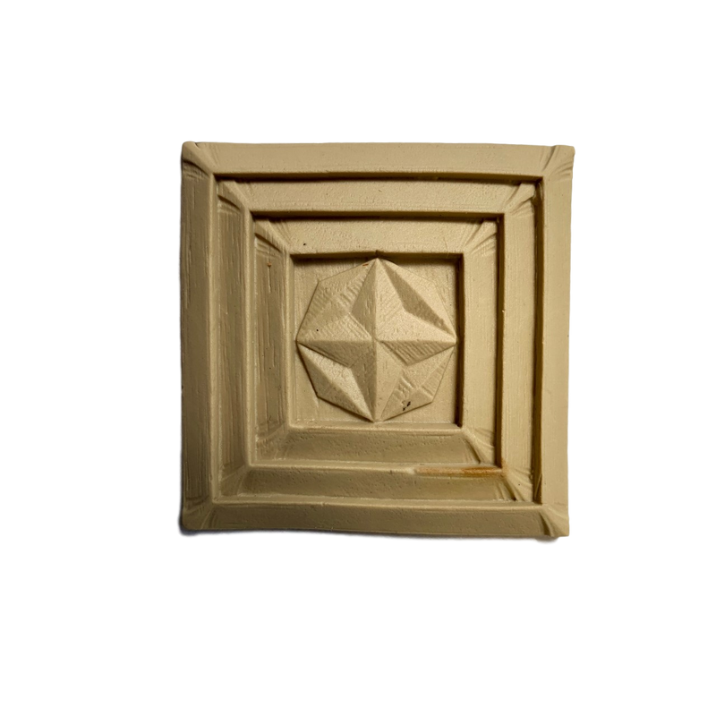 Art Deco-Rosette - Square- 3H X 3W - 5/16Relief