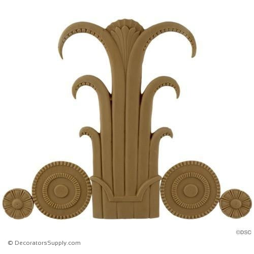 Art Deco- 8H X 10 1/4W - 3/8Relief-appliques-for-woodwork-furniture-Decorators Supply