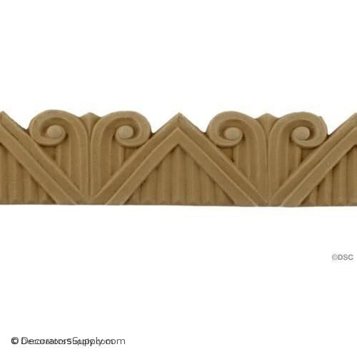 Art Deco- 1 1/2H - 4/16Relief-moulding-for-furniture-woodwork-Decorators Supply
