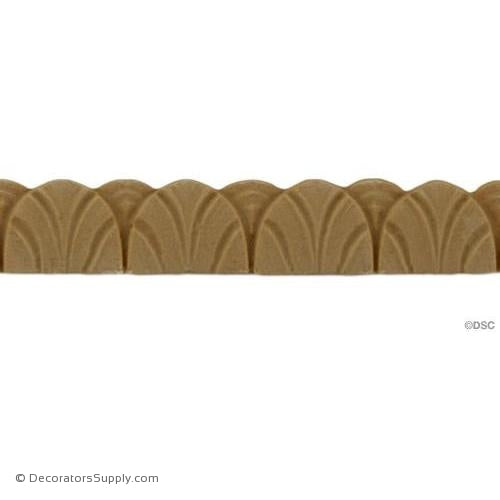 Art Deco-Fluted- 3/8H - 1/8Relief-appliques-for-woodwork-furniture-Decorators Supply