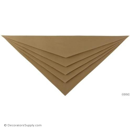 Art Deco- Chevron - 8 5/8H X 17 1/8W - 7/8Relief-appliques-for-woodwork-furniture-Decorators Supply