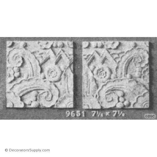 Art Deco- 7 1/2H X 7 1/2W - R&L 3/8Relief-appliques-for-woodwork-furniture-Decorators Supply