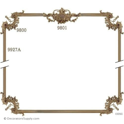 Wall Panel 1-9801 4-9800 12ft - 9927A-ornate-french-Decorators Supply